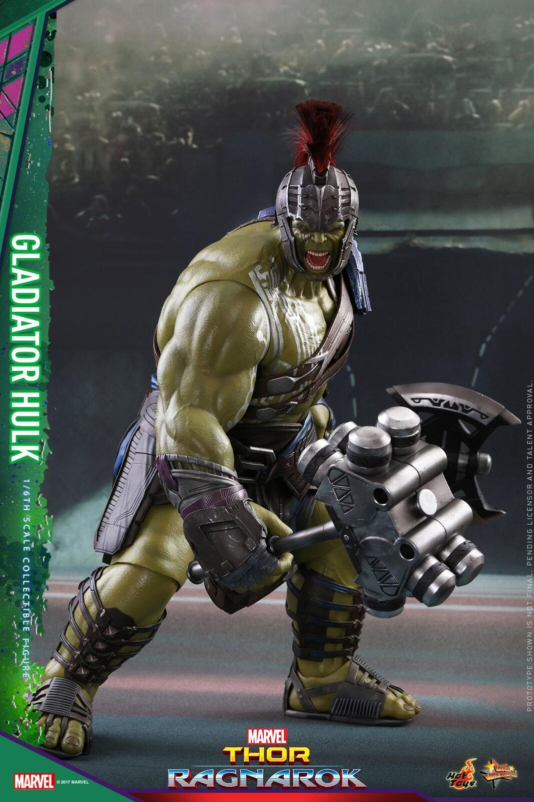 Hot Toys 1 6 Marvel Thor Ragnarok Mms430 Gladiator Hulk Action Figure 45cm Zoltar